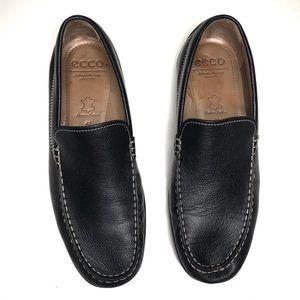 Men's ECCO black Leather Slip On Loafers 43